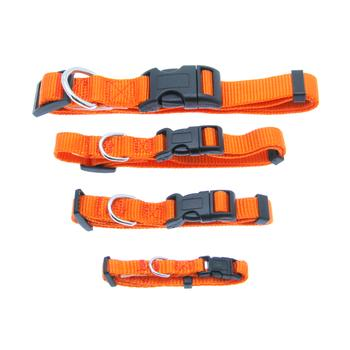 barking basic dog collar orange